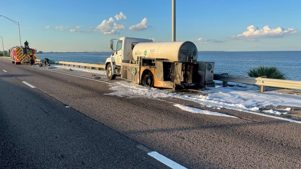 Sunshine Skyway reopens after truck transporting carbon dioxide catches fire