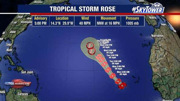 Tropical Storm Peter and Rose form in Atlantic; pose no threat to United States