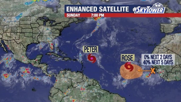 Tropical Storms Peter and Rose form in Atlantic; pose no threat to United States