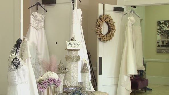 Promotion gives free wedding dresses to front-line workers