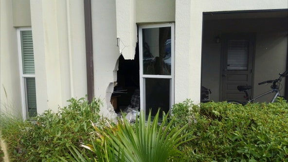 Largo driver pressed accelerator instead of brakes, crashes into apartment building, troopers say