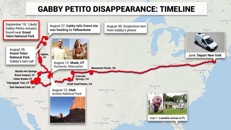 Gabby Petito map
