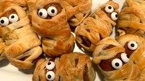 Sausage mummy recipe for Halloween – with optional candy eyeballs