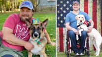 Punts for Pups: Bucs player, Packers fan team up to unite veterans with shelter dogs