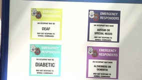 Tampa police, firefighters hope stickers will speak for special needs patients who can't