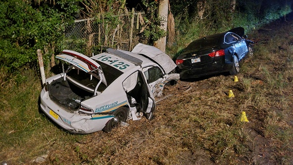 Deputy seriously injured in crash with vehicle in Auburndale