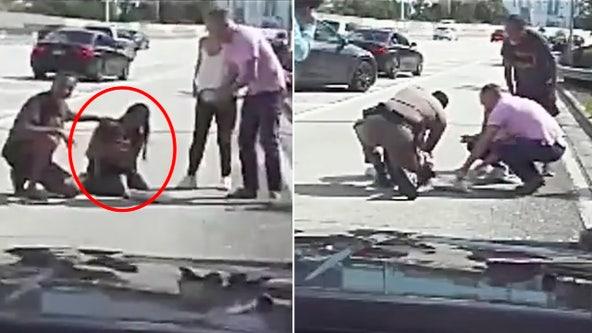 Dashcam video shows Florida Highway Patrol trooper saving choking toddler