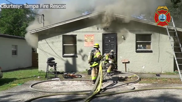Tampa firefighters rescue wheelchair-bound resident after child allegedly sets house on fire