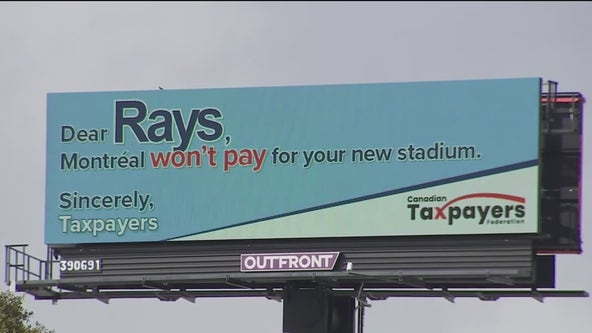 Canadian group sponsors billboard opposing taxpayer-funded Rays stadium