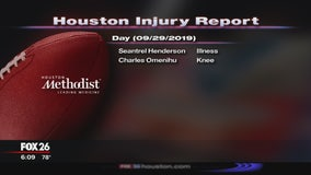 Injury Report - September 29, 2019