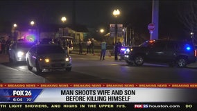 Man Shoots wife and son