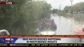 High water rescues happening in Independence Heights
