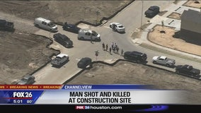 Shooting death at Channelview construction site