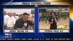 Cy Falls and Jersey Village high schools show their spirit