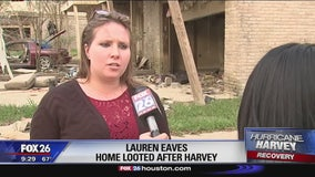 Neighborhood looted after Hurricane Harvey