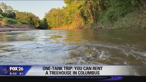 One-tank trip: treehouse rental in Columbus