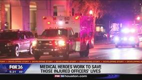 Medical heroes work to keep injured officers alive
