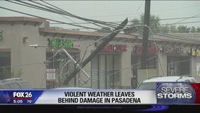 Violent weather leaves behind damage in Pasadena