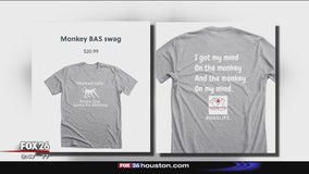 Bayou Animal Services selling Santa monkey shirts to raise funds