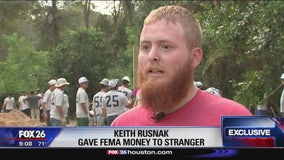 Harvey victim gives FEMA money to stranger left homeless