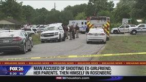 Man accused of shooting ex-girlfriend, her parents, then himself in Rosenberg