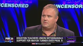 Houston Teachers Union withdrawals support for Mayor Turner over Prop B