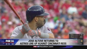 Jose Altuve returns to Astros line-up against Cincinnati Reds