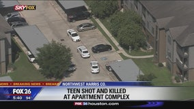 Teen shot and killed at apartment complex