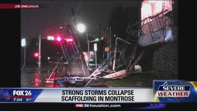Strong storms collapse scaffolding in Montrose