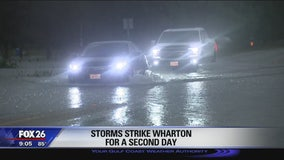 Storms strike Wharton for a second day