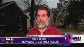 Harvey survivor allowed to use FEMA trailer