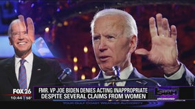 Former VP Joe Biden denies acting inappropriately despite several claims from women