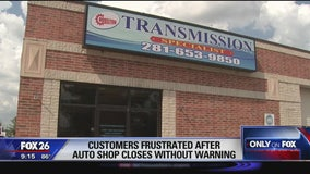 Customers frustrated after autos shop closes without warning