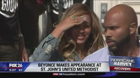 Beyonce visits Houston church