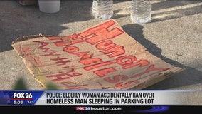 Sleeping homeless man run over by vehicle