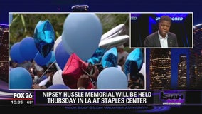 Nipsey Hussle memorial held Thursday in Los Angeles at Staples Center