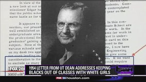 1954 letter from UT dean addresses keeping blacks out of classes with white girls
