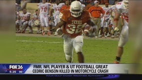 Former NFL player and UT football great Cedric Benson killed in motorcycle crash in Austin