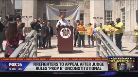 Firefighters to appeal after judge rules Prop B unconstitutional