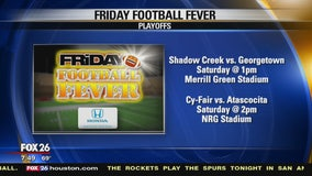 Friday Football Fever -  Shadow Creek HS and Cy-Fair HS show their spirit