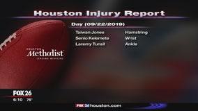 Methodist Injury report September 22, 2019