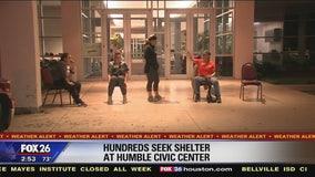 Humble shelter Wednesday morning