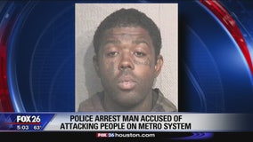 METRO says suspect arrested in violent attacks