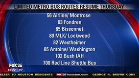 METRO resumes limited services on Thursday