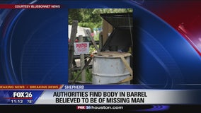 Authorities find body in barrel believed to be of missing man