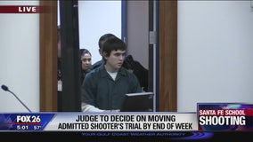 Judge to decide on moving admitted Santa Fe shooter's trial by end of week