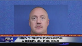 Liberty Co. deputy in stable condiiton after being shot in the throat