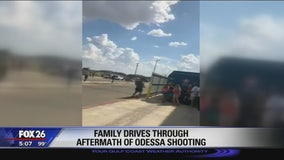 Family drives through aftermath of Odessa shooting