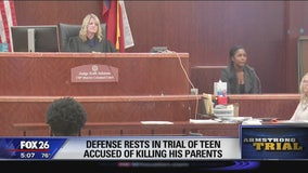 Defense rests in trial of teen accused of killing parents