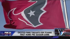 Excited fans tailgate for first Texans home pre-season game